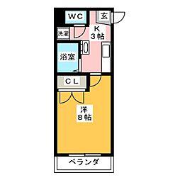 P・Yマンション[5階]の間取り