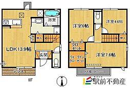 (仮)D-room今の庄[101号室]の間取り