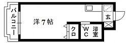 レジデンス浜松[5階]の間取り