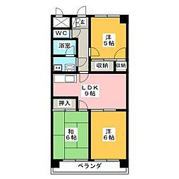 グランシャリオM[2階]の間取り