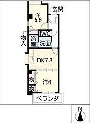 明治屋ビルディング[4階]の間取り