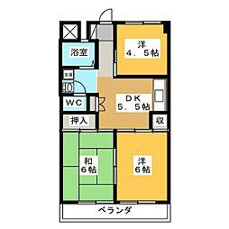 グリーンハイツ大竹[3階]の間取り