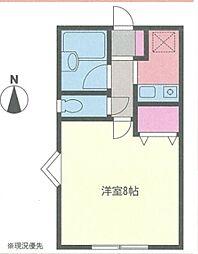 黎明荘[1-3号室]の間取り