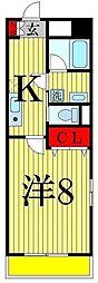 コルソ五反野[4階]の間取り