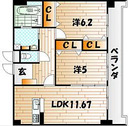 ルボンディール・キティ[5階]の間取り