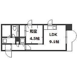 山京ガーデンハイツ西15[2階]の間取り