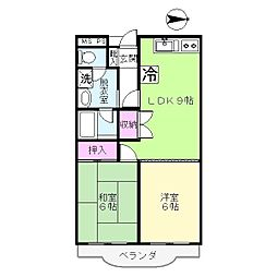 蒲田モリコーポ[3階]の間取り