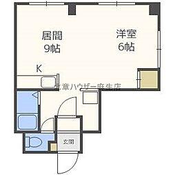 N405ビル[2階]の間取り