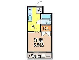 静岡県富士市中柏原新田の賃貸アパートの間取り