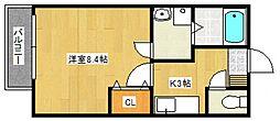 リブレア津福本町B[202号室号室]の間取り