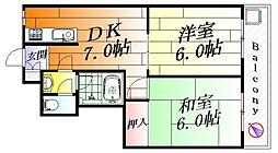 正雀メゾンハイツ[3階]の間取り