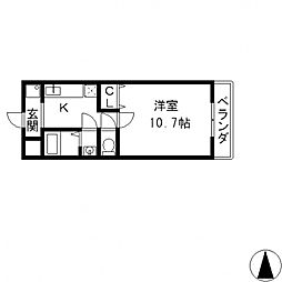 Kアゴラ[103号室号室]の間取り