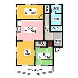 ベルハウス[1階]の間取り