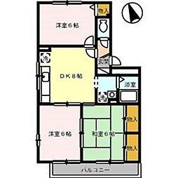 広島県広島市佐伯区五日市中央5丁目の賃貸アパートの間取り