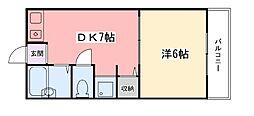 兵庫県姫路市三条町1丁目の賃貸マンションの間取り