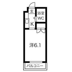 ジョイフル本山[407号室]の間取り