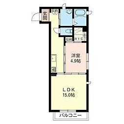 JR武蔵野線 西浦和駅 徒歩7分の賃貸アパート 2階1LDKの間取り