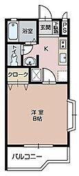 パークミラコスタ[A201号室]の間取り