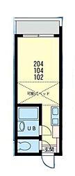 マリンコート浜須賀[104号室]の間取り
