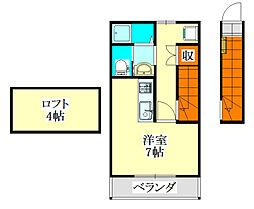 エクラ[2階]の間取り