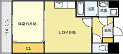 竪町センタービル[8階]の間取り