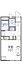 間取り,1K,面積20.28m2,賃料4.2万円,JR東海道・山陽本線 朝霧駅 バス15分 朝霧3丁目下車 徒歩1分,山陽電鉄本線 大蔵谷駅 徒歩16分,兵庫県明石市朝霧町 3丁目4-21
