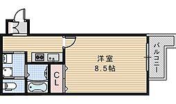 FuMoSe西田辺[203号室]の間取り