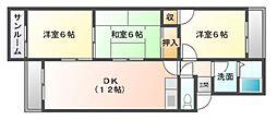 大谷ヒルズC棟[4階]の間取り