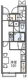 レオパレスメルズ[2階]の間取り
