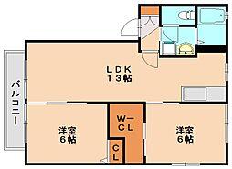 フォーレスト2[2階]の間取り