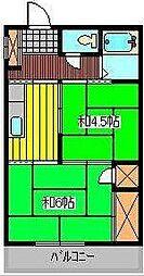 まるごコーポ[1階]の間取り