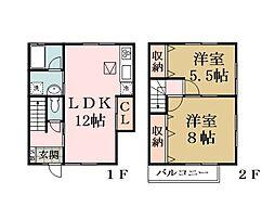 [テラスハウス] 埼玉県越谷市蒲生4丁目 の賃貸【/】の間取り
