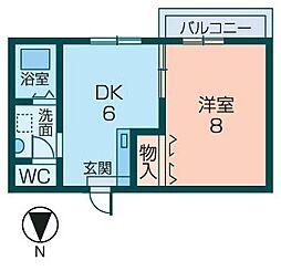 ロイヤルコート宮田[205号室]の間取り