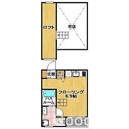レア ボナール 吉塚[2階]の間取り
