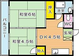 第一白石ビル[603号室]の間取り