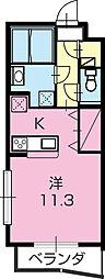 ぱーくたうんルナIV[101号室]の間取り