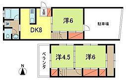東京都杉並区松ノ木3丁目の賃貸アパートの間取り