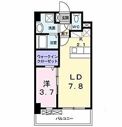 西鉄天神大牟田線 大橋駅 バス17分 上警固下車 徒歩2分の賃貸マンション 4階1LDKの間取り