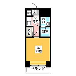 エステートモアDOUX高宮[5階]の間取り