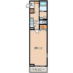 和歌山県和歌山市小雑賀の賃貸アパートの間取り