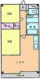ヒルズ小山台I[2階]の間取り