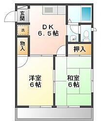 コートハイツII[2階]の間取り
