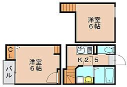 クレオ二又瀬弐番館[1階]の間取り