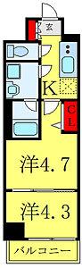 間取り,2K,面積26.39m2,賃料9.1万円,都営三田線 西巣鴨駅 徒歩7分,JR埼京線 板橋駅 徒歩11分,東京都北区滝野川7丁目45-16