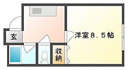 岡山県岡山市中区高島新屋敷の賃貸マンションの間取り