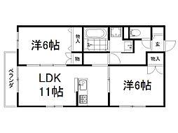 MY Lanai 3階2LDKの間取り