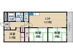 レジオン小島[4階]の間取り