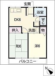 コーポ小坂[2階]の間取り