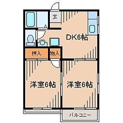 ヴァンベール大清水II[2階]の間取り