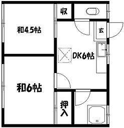 小池ハウス[2階]の間取り